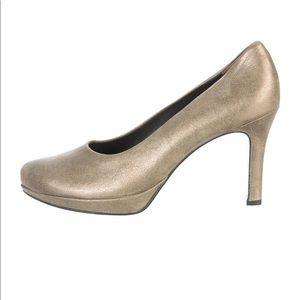 Paul Green Pumps munchen Metallic Gold Size 7